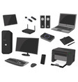 computer technology icon set computer gadget vector image
