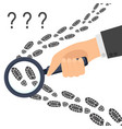 detective inspecting hand icon flat design vector image vector image