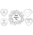 doodle heart banners set of romantic template vector image