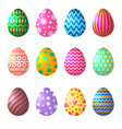 easter eggs in cartoon style celebration symbols vector image
