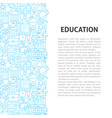 education line pattern concept vector image vector image