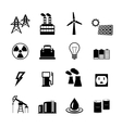 Energy power pictograms collection vector image vector image