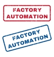 Factory Automation Rubber Stamps vector image vector image