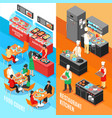 fastfood kitchen banners set vector image vector image