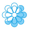 Flower blossom flat icon vector image