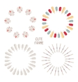 Frame of colorful ethnic set with dream catcher vector image vector image