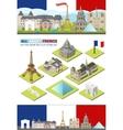 France travel famous landmarks Paris vector image
