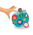 Global and digital marketing design vector image