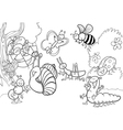 happy insects for coloring book vector image vector image
