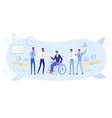 healthy and disabled together in business team vector image vector image