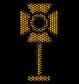 hexagon halftone spotlight rack icon vector image vector image