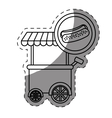 hot dog car icon vector image vector image