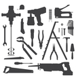 house remodel instruments silhouette set vector image vector image