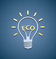 icon bulb ecological symbol vector image vector image