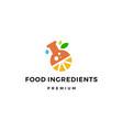 ingredients logo icon vector image vector image