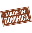 made in dominica stamp vector image vector image