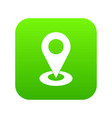 map pointer icon digital green vector image vector image