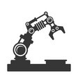 mechanical robot arm icon vector image