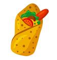mexican food burritos vector image