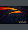 modern dark navy with futuristic orange lines vector image vector image