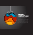 modern minimalistic christmas card vector image vector image