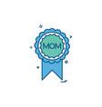 mom badge icon design vector image