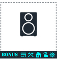 Music column icon flat vector image