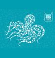 octopus plastic waste ocean environment problem vector image vector image