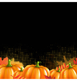 Orange Autumn Leafs And Pumpkins Frame vector image vector image
