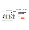 people team over web search bar online internet vector image