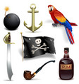 Pirate Icons Set 2 vector image