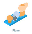 plane tool icon isometric 3d style vector image vector image