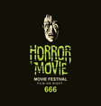 poster for horror movie festival scary vector image