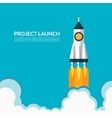 project launch start up concept vector image vector image