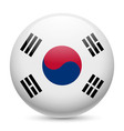 Round glossy icon of south korea vector image vector image