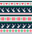 Scandynavian winter seamless pattern with deer vector image vector image