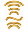 set gold ribbons eps 10 vector image vector image