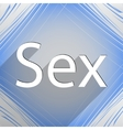 sex icon symbol Flat modern web design with long vector image vector image