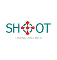 shoot simple logo vector image