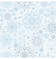 Snowflakes lace seamless patternWinterChristmas vector image vector image