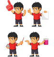 Soccer Boy Customizable Mascot 5 vector image vector image