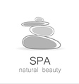 spa natural beauty logo template vector image vector image