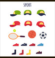 sport clothes and equipments collection vector image vector image