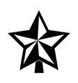 star decorative isolated icon vector image vector image