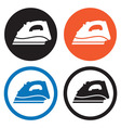 Steam iron icons vector image