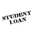 student loan rubber stamp vector image vector image