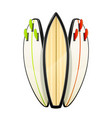 surf board for sutfing sport vector image vector image