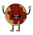 sweet cookie cartoon vector image vector image