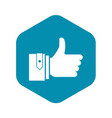 thumbs up icon simple style vector image vector image