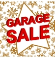 Winter sale poster with GARAGE SALE text vector image vector image
